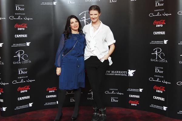 Dana Petcu (Dior) si Rhea Costa