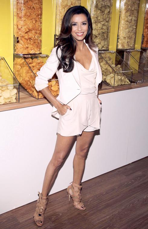 Eva Longoria at Lay's contest kick-off in New York