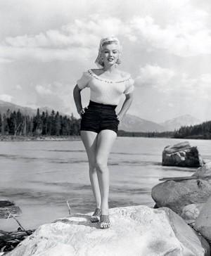 Film - Marilyn Monroe - Jasper National Park, Alberta, Canada.