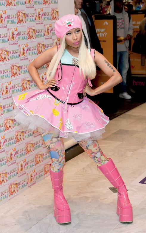 Nicki Minaj album signing - London