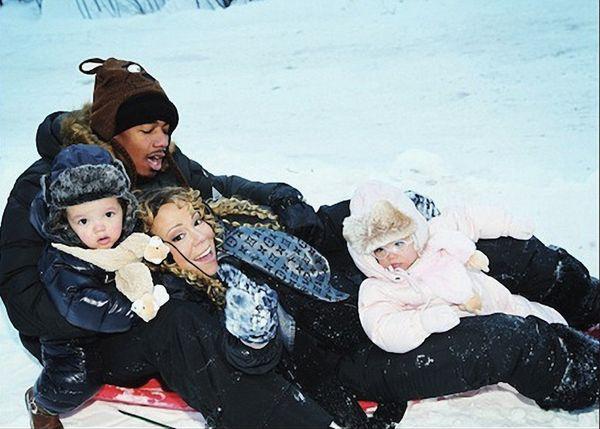 Mariah Carey family Christmas shots