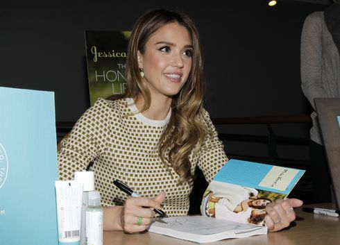 Jessica Alba signs copies of her book 'The Honest Life'