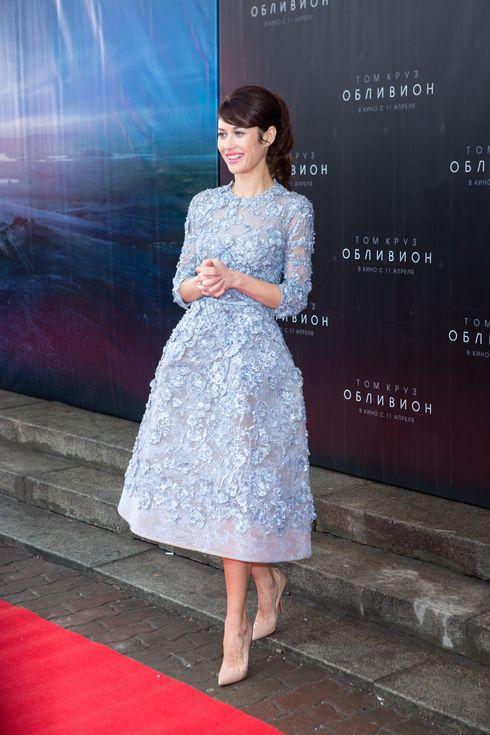 "Tom Cruise and Olga Kurylenko presenting ""Oblivion"" in Moscow, Russia"