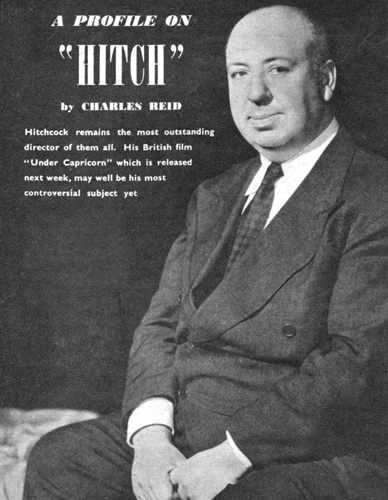 Alfred Hitchcock, British film director, 1949.