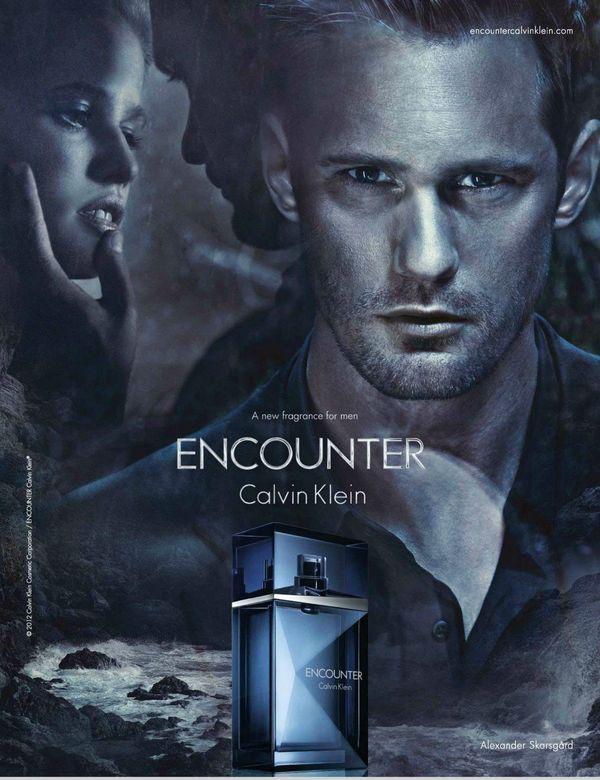 """Actorul din """"True Blood"""" Alexander SkarsgŒrd laad, campanie pentru parfumul Encounter (Calvin Klein Jeans)."""