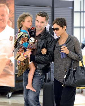 Halle Berry, Nahla Aubry, And Olivier Martinez Arrive At LAX