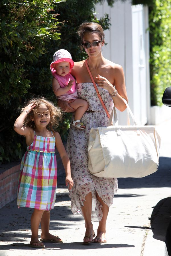 Jessica Alba And Cash Warren Spend Time with Their Daughters