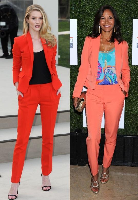 pantaloni portocaliu