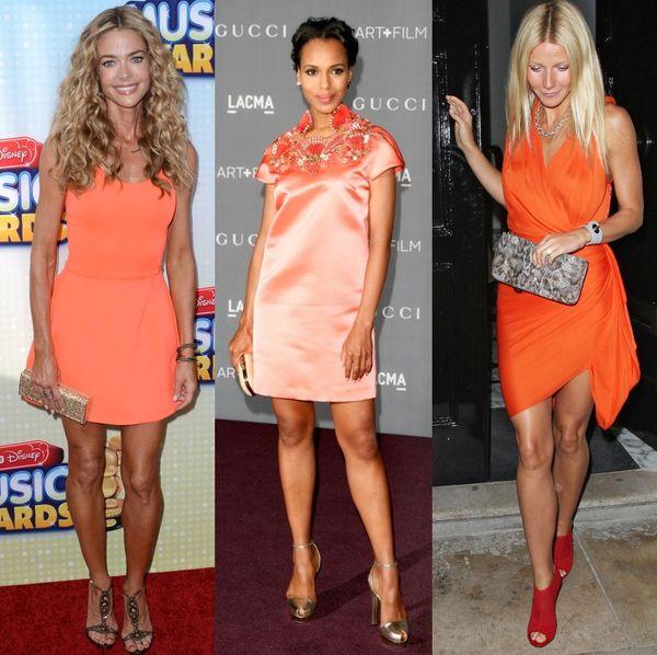 rochie scurta portocaliu