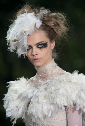 Haute-Couture Fashion Week - Cara Delevingne Models For Chanel - Paris