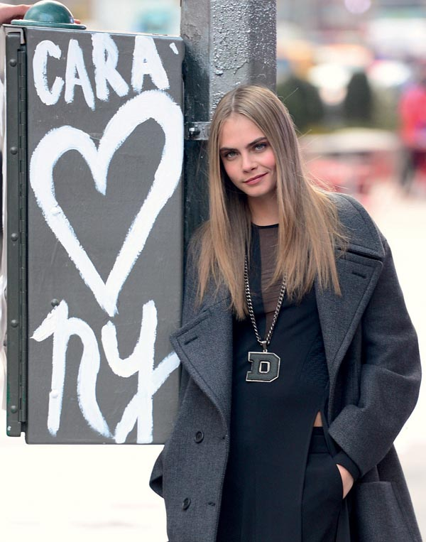 Cara Delevingne During A Photo Shoot - NYC