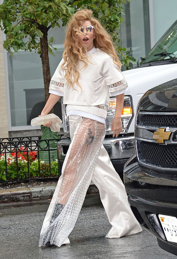 Lady Gaga Leaving Her NYC Apartment