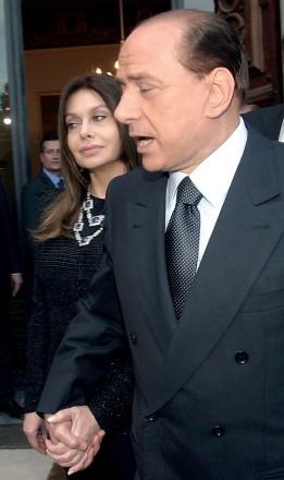 Silvio Berlusconi con la moglie Veronica Lario