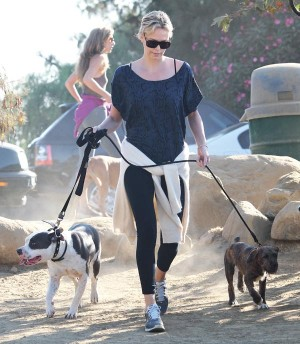 Charlize Theron out on a Hiking Date.