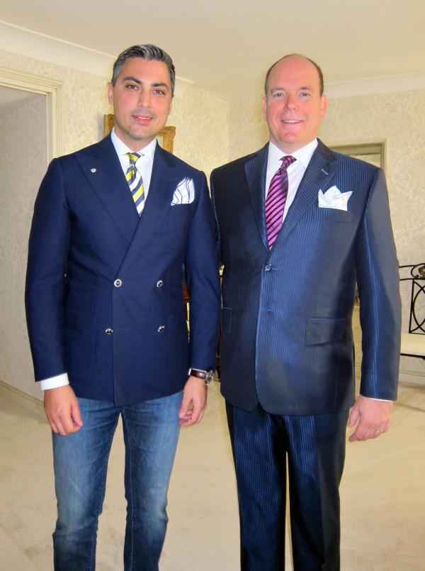 Alexandru Ciucu si Principele Albert de Monaco