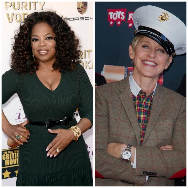 Oprah Winfrey si Ellen DeGeneres