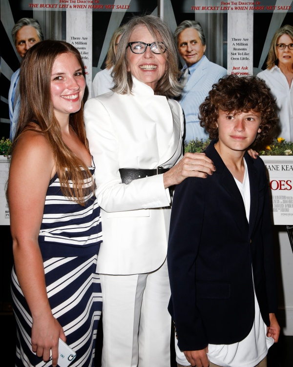 Photo of Diane Keaton & her Son  Duke Keaton
