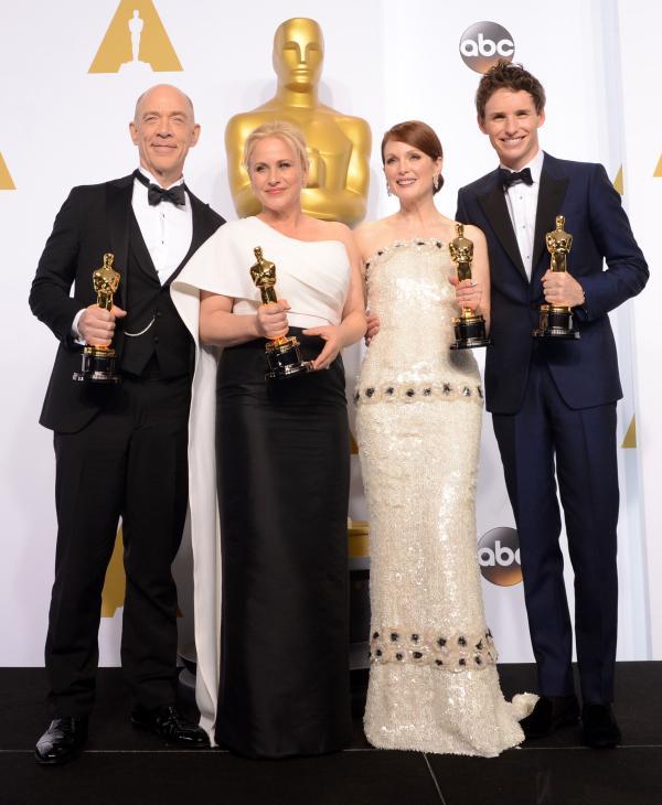 Castigatorii Premiilor OSCAR 2015 J.K.Simmons, Patricia Arquette, Julianne Moore si Eddie Redmayne