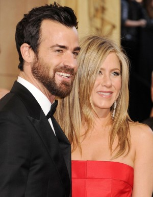 Justin Theroux and Jennifer Aniston (in Valentino Haute Couture) arriving to the 85th Academy Awards at the Hollywood and Highland Center in Hollywood, California, 24.02.2013. Credit: Mayer/face to face - No Rights for USA, Canada and France -