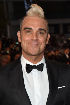 Robbie Williams attending 'The Sea of Trees' screening at the Palais des Festivals in Cannes, France during the 68th Cannes International Film Festival on May 16, 2015. Photo by Aurore Marechal/ABACAPRESS.COM