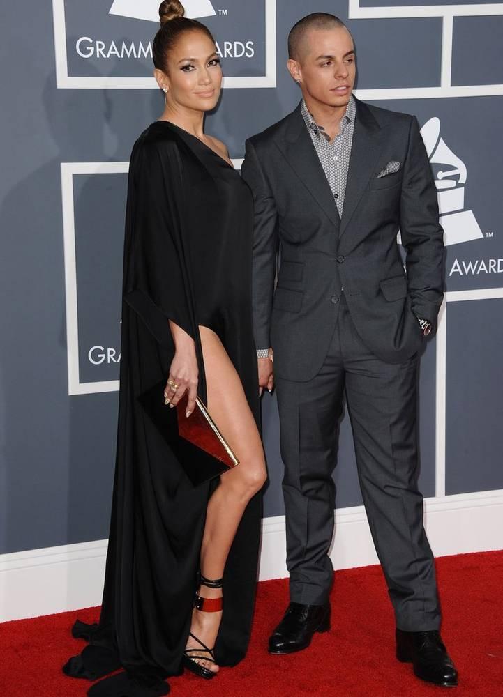 Jennifer Lopez si casper Smart, la Premiile Grammy