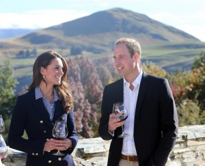 Kate and William visit Otago Wines and try the wine as well as touring the vineyard. Ph:Royal UK Tour pictures via Royalfoto