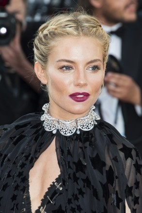 Sienna Miller arriving on the red carpet for the movie 'Carol' presented in competition held at the Palais Des Festivals in Cannes, France on May 17, 2015 as part of the 68th Cannes Film Festival. Photo by Nicolas Genin/ABACAPRESS.COM