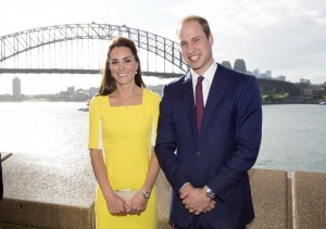 SYDNEY- AUSTRALIA - 16-APR-2014: The Duke and Duchess of Cambridge arrive in Sydney at the start of their Official Visit to Australia. After landing at Sydney airport Prince William and Catherine went to a civic reception at the Sydney Opera House. On arrival the royal couple stopped in front of the Sydney Harbour Bridge, attended the reception and met locals on a walkabout outside. Ph: Royal UK Tour Pictures via Royalfoto /iPhoto