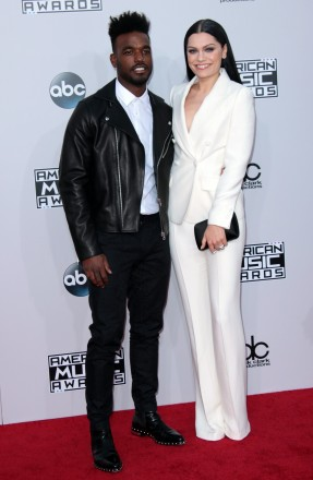 Mandatory Credit: Photo by Jim Smeal/BEImages (2591693ad) Jessie J and Luke James American Music Awards, Arrivals, Los Angeles, America - 23 Nov 2014