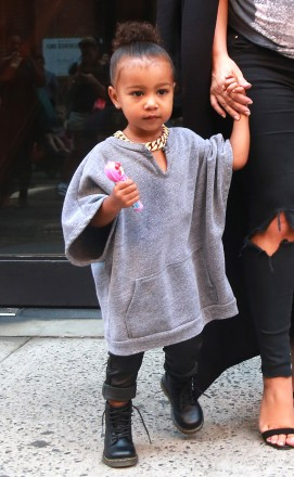 51843518 Pregnant reality star Kim Kardashian and her daughter North West are spotted out and about in New York City, New York on September 7, 2015. FameFlynet, Inc - Beverly Hills, CA, USA - +1 (818) 307-4813