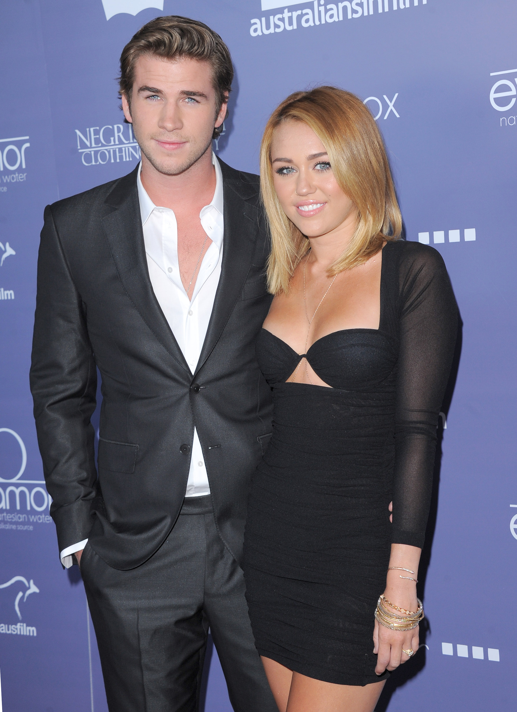 Liam Hemsworth and Miley Cyrus attends the Australians in Film 8th Annual Breakthrough Awards held at The Hotel Intercontinental in Century City, California on June 27,2012                                                                               © 2012 Debbie VanStory/ iPhotoLive.com