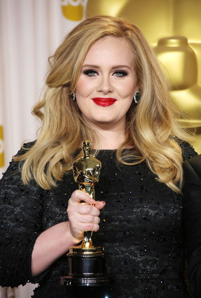 Mandatory Credit: Photo by Jim Smeal / BEImages (1255642hh) Adele 85th Annual Academy Awards Oscars, Press Room, Los Angeles, America - 24 Feb 2013