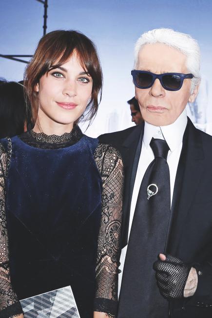 Alexa Chung si Karl Lagerfeld