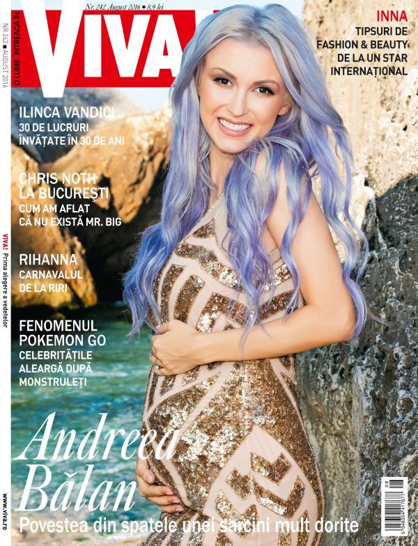 Andreea Balan pe coperta Viva! de august