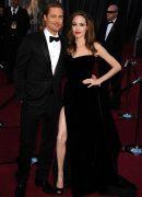 Brad Pitt si Angelina Jolie la Premiile Oscar in 2012