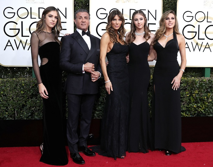 Sylvester Stallone, Jennifer Flavin, Sistene Stallone, Scarlet Stallone si Sophia Stallone