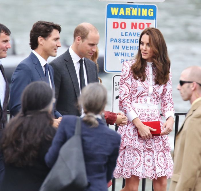 Justin Trudeau și Kate Middleton
