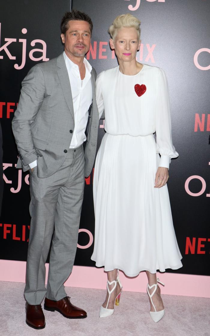 Brad Pitt si Tilda Swinton