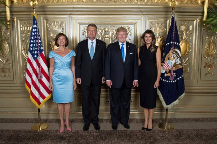 Carmen și Klaus Iohannis, alături de Melania și Donald Trump.