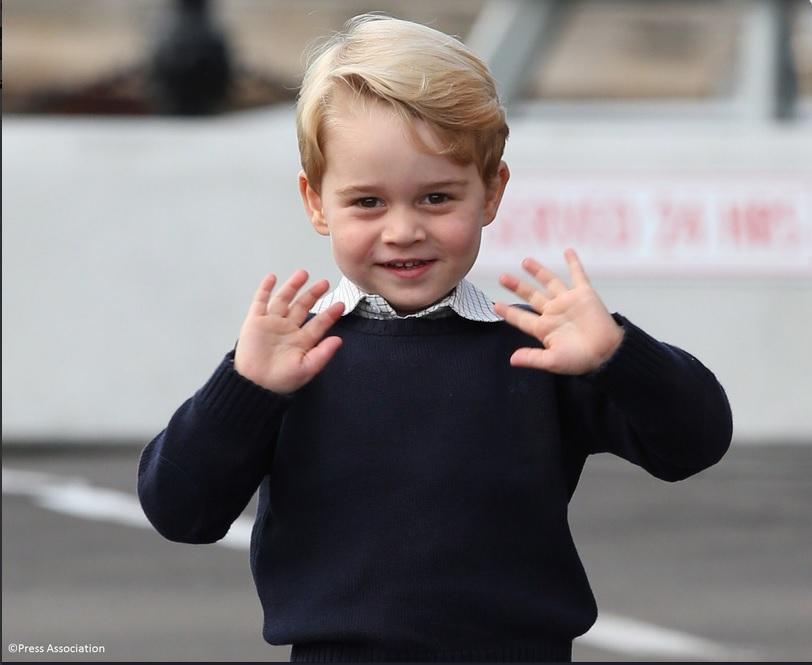 Prințul George va deveni într-o zi Regele George al Marii Britanii.