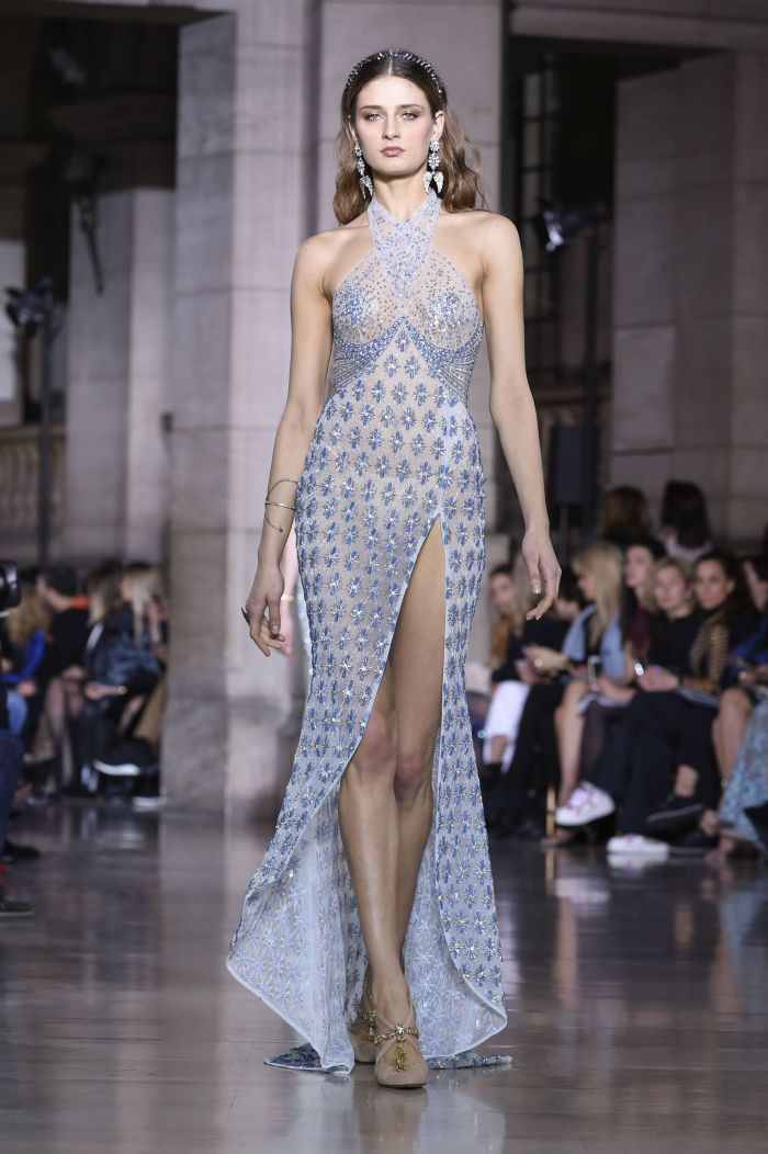 Défilé de mode Georges Hobeika Haute-Couture printemps-été 2018 à Paris