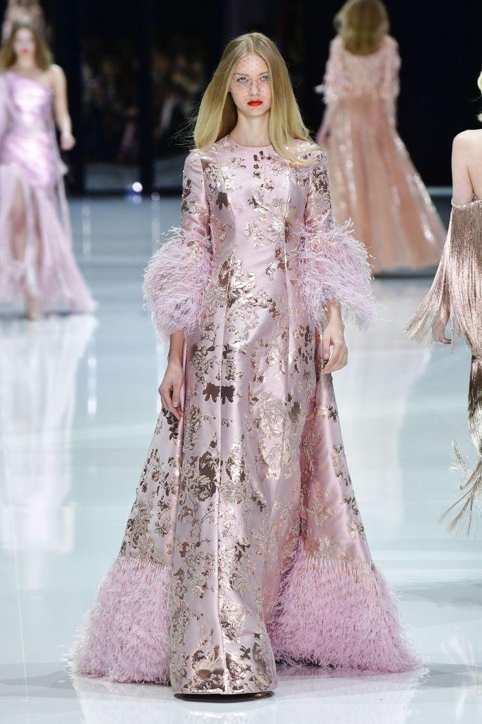 Défilé de mode Ralph & Russo Haute-Couture printemps-été 2018 à Paris