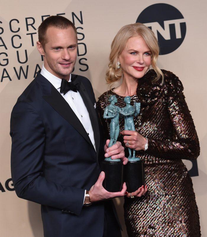 Premiile SAG 2018 - Alexander Skarsgård, alături de Nicole Kidman.