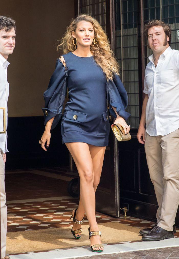 Blake Lively, în iunie 2016, în ultimul trimestru de sarcină.