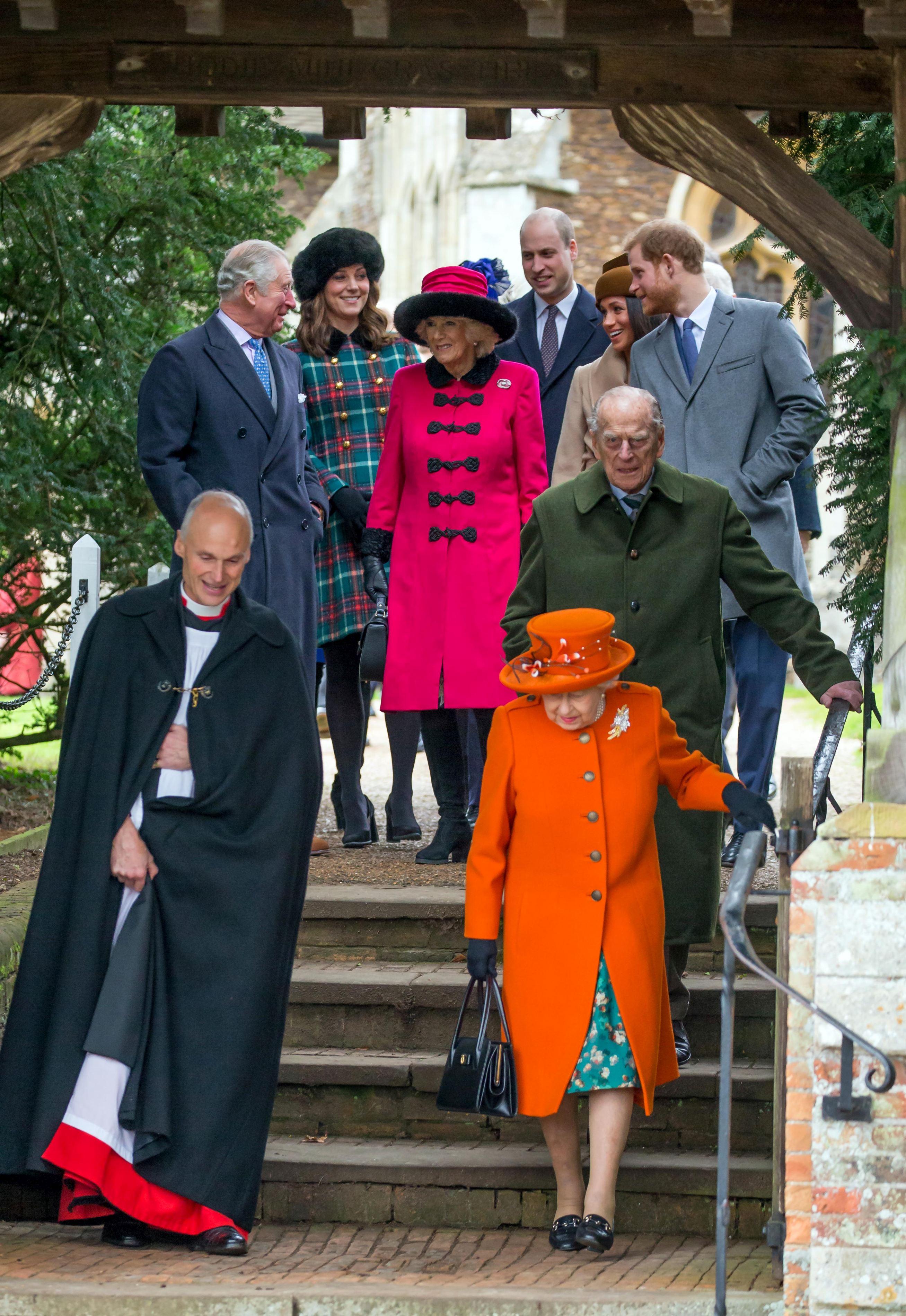 Kate, Meghan, William ș Harry, împreună la slujba de Crăciun