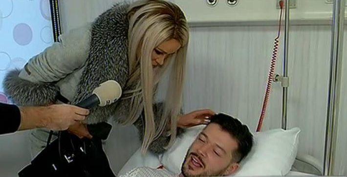 Victor a fost operat, iar Bianca i-a fost permanent alături.