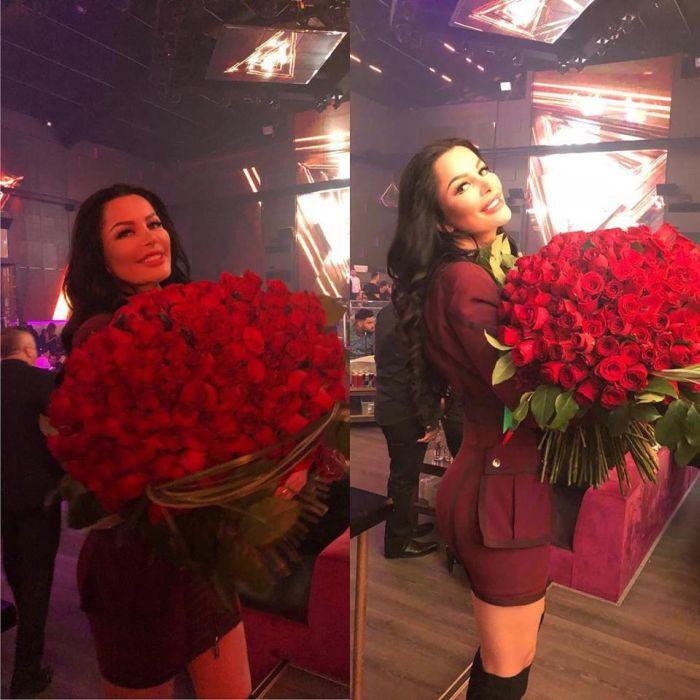 Brigitte Sfăt, de ziua ei cu trandafirii primiți de la Ilie
