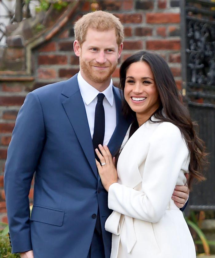 Meghan Markle și Prințul Harry, în ziua anunțării logodnei lor.