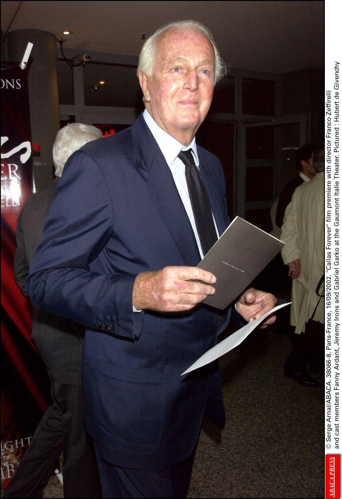 Hubert de Givenchy a murit la vârsta de 91 de ani