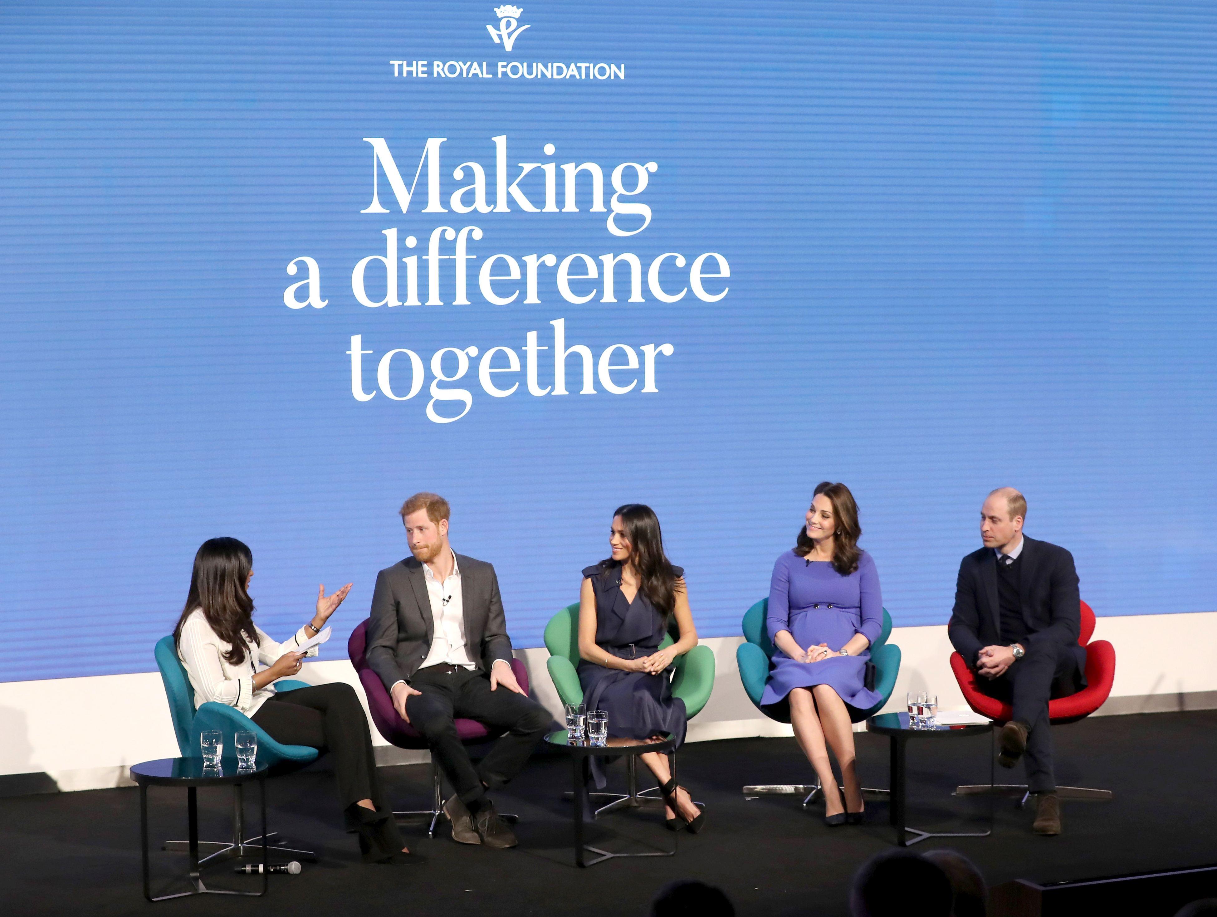 """Kate Middleton, Meghan Markle, Prințul William și Prințul Harry - supranumiți """"Cei 4 fantastici"""""""